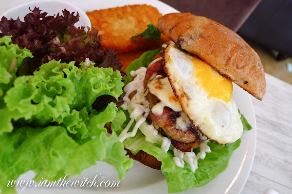 Ante pork burger