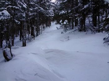 Snowdrifts on Mt. Moosilauke Glencliff Trail, Appalachian Trail