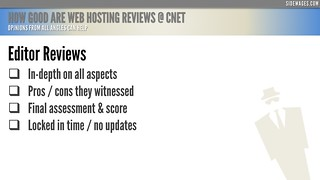 How Good are Web Hosting Reviews @ CNET - PowerPoint Slide #4