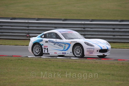 Will Tregurtha in Ginetta Junior Racing during the BTCC 2016 Weekend at Snetterton