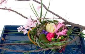 Cherry Blossom Basket