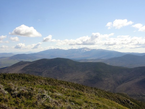 Mt. Washington and the Presidential Range as seen from North Twin Mountain