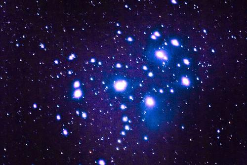 Amas d'étoiles des Pléiades (M45)