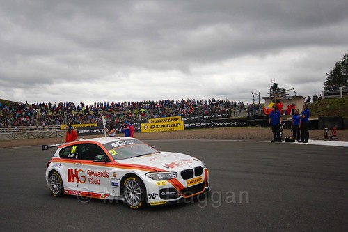 Jack Goff in BTCC race 2 during the Knockhill Weekend 2016