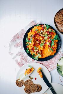 Cenouras assadas com grãos e especiarias 2