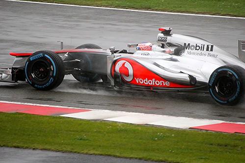 McLaren's Jenson Button at Silverstone