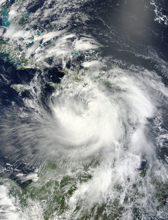 NASA Satellite View of Tropical Storm Isaac