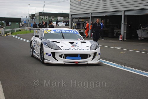 Fraser Robertson in the Ginetta GT4 Supercup at the BTCC Knockhill Weekend 2016