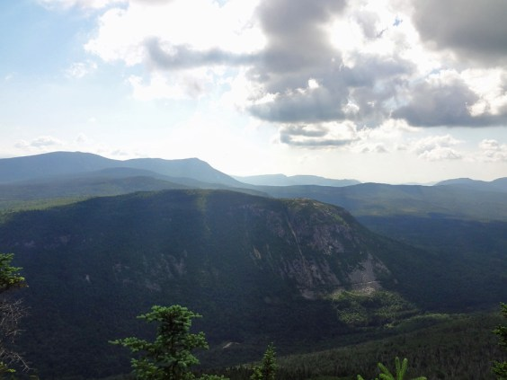 View of Whitewall Mountain from the Zeacliff on the NH Appalachian Trail