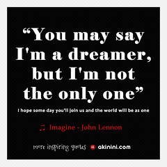 """You May Say I'm A Dreamer"" (John Le..."