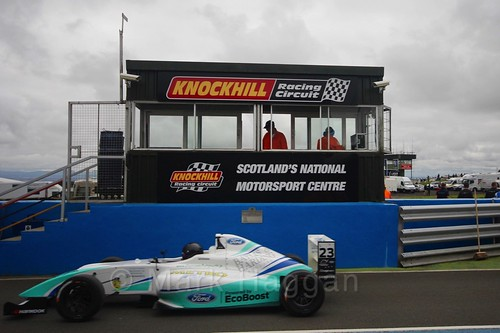 Billy Monger ahead of British Formula Four race 2 during the BTCC Knockhill Weekend 2016