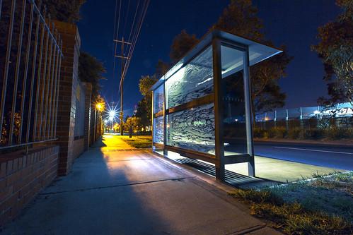 Blue Bus Stop 2
