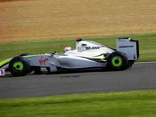 Jenson Button in his Brawn F1 car at the 2009 British Grand Prix