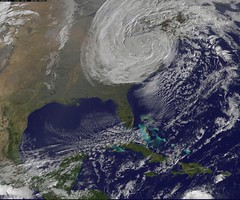 Satellite View of Post-Tropical Cyclone Sandy ...