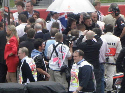 Lewis Hamilton prepares to get into his car at the 2011 British Grand Prix at Silverstone