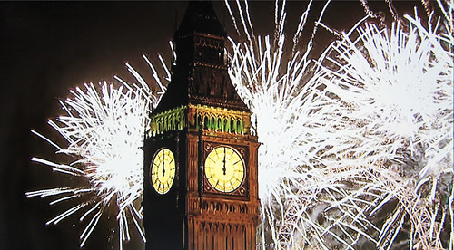 New Year's fireworks 2013 on BBC1