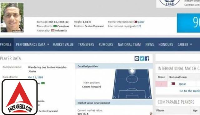 #Bola: Main di UEA, Striker Brasil Gunakan Paspor Palsu Indonesia