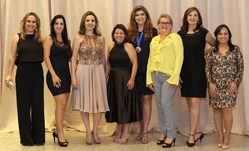 Do Conselho da Mulher Empreendedora, Ana Paula, Graziele, Maria Angélica, Beatriz, Vânia, Marlene, Ivna e Soraya Rolla