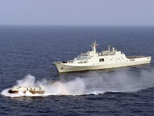 The Chinese navy conducts drills in the South ...