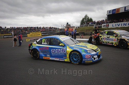 Dan Welch on the grid during the BTCC weekend at Knockhill, August 2016