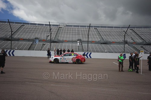 Josh Cook on the grid at Rockingham, August 2016