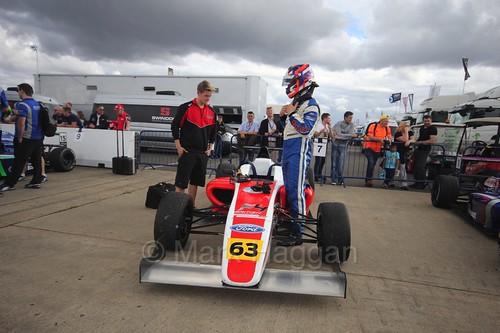 Nicolai Kjærgaard in British Formula Four at Rockingham, August 2016