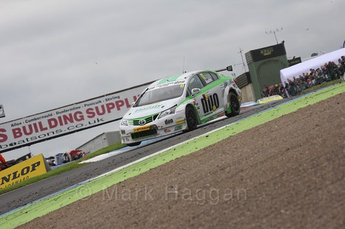 Rob Austin in race two during the BTCC weekend at Knockhill, August 2016