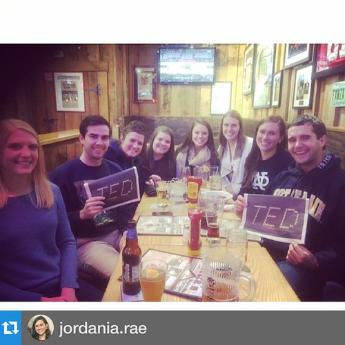 #Repost @jordania.rae with @repostapp.・・・.@ndalumni at IU Maurer School of Law got together tonight in Bloomington to celebrate Father Ted