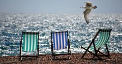 """Der Liegestuhl. Die Liegestühle. Drei Liegestühle am Strand. • <a style=""""font-size:0.8em;"""" href=""""http://www.flickr.com/photos/42554185@N00/27842305504/"""" target=""""_blank"""">View on Flickr</a>"""