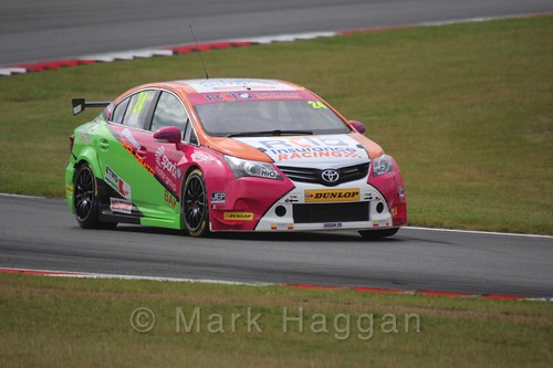 Jake Hill in Touring Car action during the BTCC 2016 Weekend at Snetterton