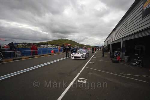 The Ginetta GT4 Supercup during the BTCC Knockhill Weekend 2016