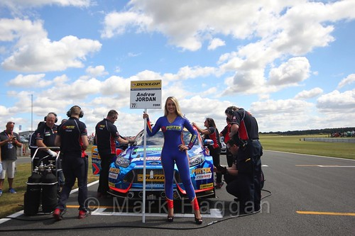 Andrew Jordan's car during the Grid Walks at the BTCC 2016 Weekend at Snetterton