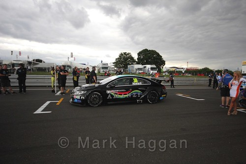 Mark Howard's car on the Grid Walks at the BTCC 2016 Weekend at Snetterton