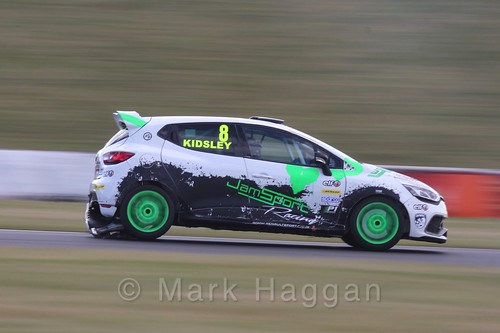 Luke Kidsley in the Clio Cup during the BTCC 2016 Weekend at Snetterton