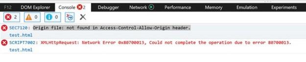 Origin file: not found in Access-control-Allow-Origin header.