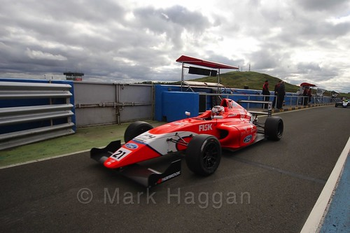 Rafael Martins after the final British Formula Four race during the BTCC Knockhill Weekend 2016