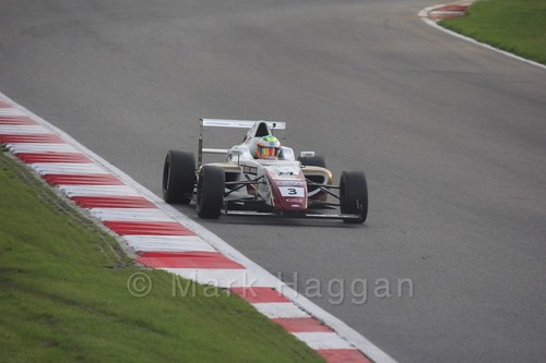 Sennan Fielding in British F4 during the BTCC Brands Hatch Finale Weekend October 2016