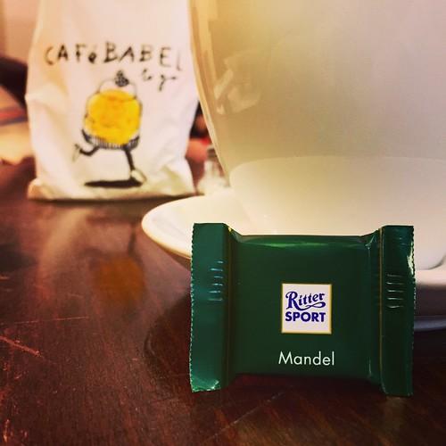 #RitterSport #Mandel  Das #CAFéBABEL in #0711 #Stuttgart kennt mich \o/