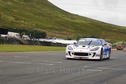 Mike Newbold in the Ginetta GT4 Supercup at the BTCC Knockhill Weekend 2016