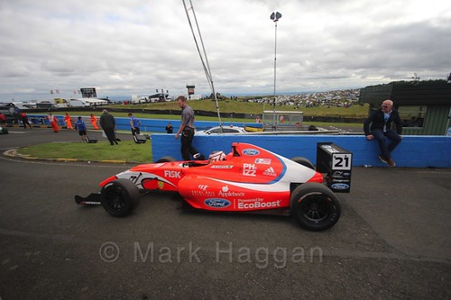 Rafael Martins ahead of the final British Formula Four race during the BTCC Knockhill Weekend 2016