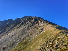 Heading up the Northwest Ridge route.