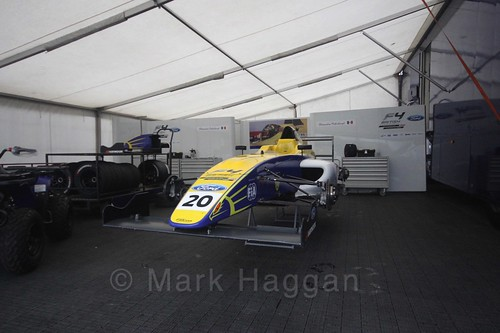 Alexandra Mohnhaupt's car in British Formula Four at the Knockhill BTCC Weekend, August 2016
