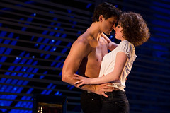 """Samuel Pergande (Johnny) and Jillian Mueller (Baby) in the Broadway Sacramento presentation of """"Dirty Dancing – The Classic Story On"""" Stage at the Sacramento Community Center Theater Dec. 26, 2014 – Jan. 4, 2015. Photo by Matthew Murphy."""