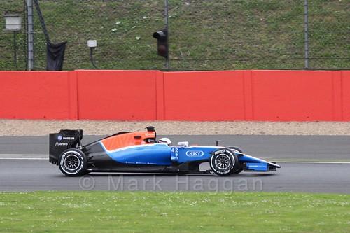 Jordan King in the Manor during Formula One In Season Testing at Silverstone, July 2016