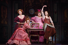 Beth Glover, Kaitlyn Davidson, Aymee Garcia and Paige Faure in Rodgers + Hammerstein's Cinderella presented by Broadway Sacramento at the Sacramento Community Center Theater May 12 – 17, 2015. Photo by Carol Rosegg.