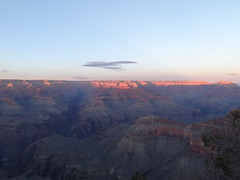 Grand Canyon sunset illuminating the north rim