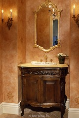 Custom Luxury Home - powder room