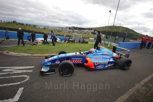 Jamie Caroline ahead of the final British Formula Four race during the BTCC Knockhill Weekend 2016