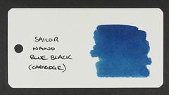 Sailor Nano Blue-Black - Word Card