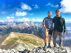 Mike and I with Mount Princeton (another 14er) in the background.
